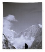 Freedom In The Himalayas In Nepal Fleece Blanket
