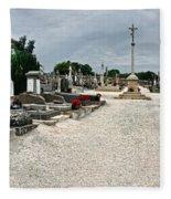 French Cemetery  Fleece Blanket