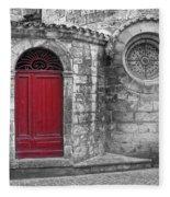 French Church Exterior Fleece Blanket
