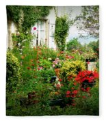 French Cottage Garden Fleece Blanket