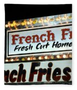 French Fries Sign Fleece Blanket