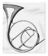 French Horn Fleece Blanket