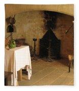 French Kitchen In Castelnaud Fleece Blanket