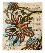 French Magnolia Minuet Fleece Blanket