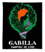 French Perfume Advert Fleece Blanket