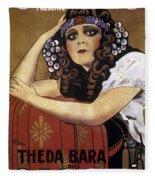 French Poster: Salome, 1918 Fleece Blanket
