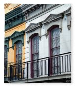 French Quarter Balconies Fleece Blanket
