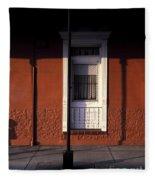 French Quarter Door And Shadows New Orleans Fleece Blanket