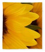 French Sunflowers Fleece Blanket