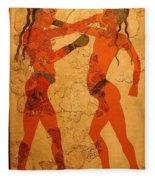 Fresco Of Boxing Children Fleece Blanket
