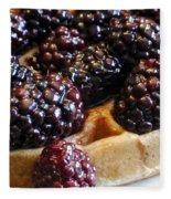 Fresh Blackberry Waffles Fleece Blanket