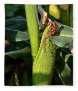 Fresh Corn On The Cob Fleece Blanket