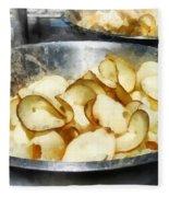 Fresh Potato Chips Fleece Blanket