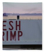 Fresh Shrimp Fleece Blanket