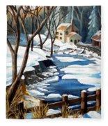 Fresh Snow In Virginia Fleece Blanket