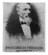 Friedrich Hecker Fleece Blanket