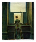 Friedrich Woman 1822 Fleece Blanket