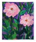Friendship In Flowers Fleece Blanket