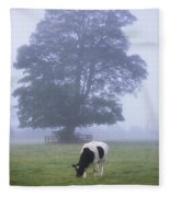 Friesian Cow, Ireland Fleece Blanket