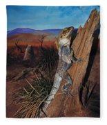 Frill-necked Lizard Fleece Blanket