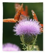 Fritillary Wings And Thistles Fleece Blanket
