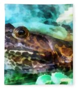 Frog Ready To Be Kissed Fleece Blanket