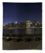 From Gantry At Night Fleece Blanket