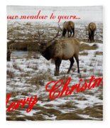 From Our Meadow To Yours Fleece Blanket