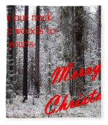 From Our Neck Of The Woods To Yours 3 Fleece Blanket