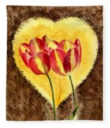 From Tulip With Love Fleece Blanket