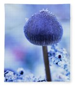 Frost Covered Mushroom, North Canol Fleece Blanket