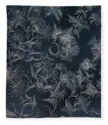 Frost Ferns Fleece Blanket