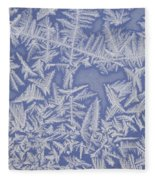 Frost On A Window Fleece Blanket
