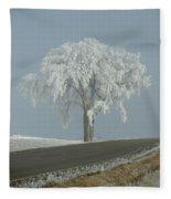 Frost On The Big Tree  Fleece Blanket
