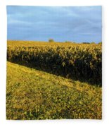 Frosted Soybeans Fleece Blanket