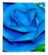 Frosting Rose Fleece Blanket
