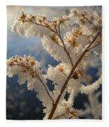 Frosty Dry Wood Aster Fleece Blanket
