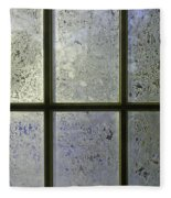 Frosty Window Pane Fleece Blanket