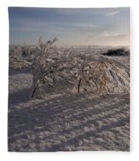 Frozen Riviere Des Mille Iles - Qc Fleece Blanket