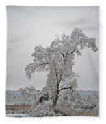 Frozen Tree Fleece Blanket
