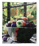 Fruit In Autumn Fleece Blanket