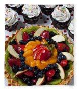 Fruit Tart Pie And Cupcakes  Fleece Blanket