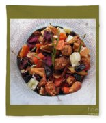 Fruity Tea With Bamboo Leaves Square Fleece Blanket