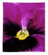 Fuchsia Pansy Fleece Blanket