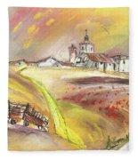 Fuente Del Cuellar In Spain Fleece Blanket