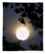 Full Moon Late Night Spain  Fleece Blanket
