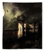 Full Moon Over Hard Time - San Quentin California State Prison - 7d18546 - Partial Sepia Fleece Blanket