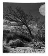 Full Moon Over Jekyll Fleece Blanket