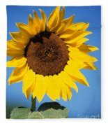 Full Sunflower Fleece Blanket
