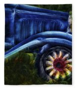 Funky Old Car Fleece Blanket
